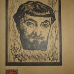 Durand, Portrait d'homme, bois.