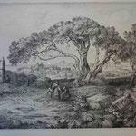 3  Paysage d'Italie au grand pin, cuivre 328 x 249.