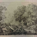 22  Le paysage aux gros rochers,  cuivre 131 x 206 (Bibliothèque municipale de Lyon, RES est 28211)