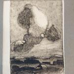 44 Paysage à l'orage, monotype
