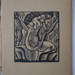 Bouquet, Femme nue à l'écharpe, 15,4 x 13,9, Album Ziniar Nov. 1920.