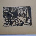 Bas, le port, bois gravé, Album Ziniar nov. 1920