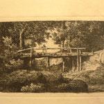 19  Le pont de bois, cuivre 98 x 65
