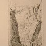 Soumy, signée et titrée dans la planche, Les roches de Viviers, Ardèche, 1848