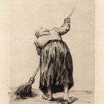 Duseigneur, Femme de dos balayant, vers 1870