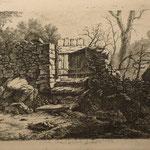 8. Le muret de pierres, 1er état, 114 x 163 au T.C. (cuivre  135 x 182).