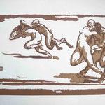 23 Faunes et femmes double scène, bois, 20x32,5, sur 124 exemplaires