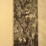 30  Femme sous le chêne, cuivre 92 x 39.