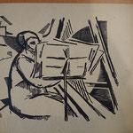 36 Harpiste, bois