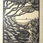 Seguin Bechetoille, bois pour une édition tchèque du Cimetière marin de P. Valéry