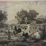 4  Le bord de mer italien à la maison en ruines,  cuivre 250 x 326 (Bibliothèque municipale de Lyon, RES est 28211