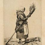 Duseigneur, Dans la rue, Lyon, eau-forte, 16,7x12,6, 1865