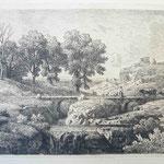 24 Le troupeau sur le pont de pierre, cuivre 125 x 174.