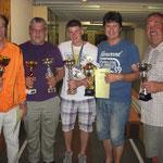 Austria Gewinner mit ihren Pokalen