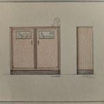 HD N°1000 Kast Tekening - Eigendom Wil Reijnders