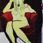 O.T., 2010, Bleistift, Edding, Marker & Auschnitt aus Zeitschrift auf Papier, 19 x 14 cm