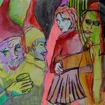 WORLD OF POISON, 2010, Bleistift, Buntstift & Kohle auf Karton, 18 x 24 cm