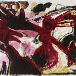 DIE WELT IST MEIN, dreifarbige Lithografie auf Büttenpapier, 2007