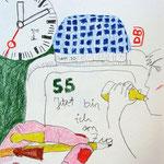 O.T., 2010, Bleistift & Buntstift auf Papier, 18 x 24 cm