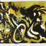 IN MOTION, 2008, dreifarbige Lithografie auf Büttenpapier, 48 x 55 cm