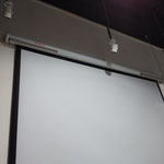 Just stick on the cavity of large projector screen. LA-12 x 2 , 40W+40W, Generate clear voice, New Sound Space.