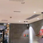 Restaurant BGM ,Smart and easy installation on the ceiling with clear sound.  No bother people conversation. LA-1 series
