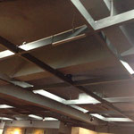 Installed LA-12 on the ceiling beam in Museum, Invisible and sound is great healing effect. high impedance connection.