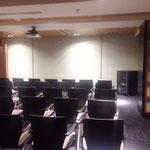 Presentation room. Clear voice.
