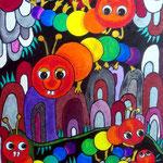 2021 Monstera Wurmli (Art Crayon 30 x 40 cm)