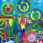 6 2019-Colority VI  Ölkreide 50 x 70 cm