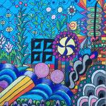 4 Colority IV 2019 Ölkreide 40 x 50 cm