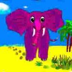 Elefant auf Wanderung  (digital)