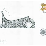 progetto di ornato per bascula su fucile da caccia