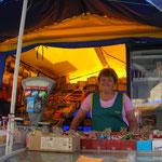 Marktfrau in Donezk, 2006