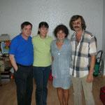 Wolfgang Templin, Christiane Schubert, Jekaterina Furmanjuk und Sergej Furmanjuk (Unabhängige Bergarbeitergewerkschaft Donezk) 2006 Foto: Andriy Umanec
