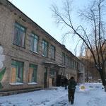 zerstörter Kindergarten in Debalzewe