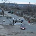 zerstörte Brücke bei Slawjansk