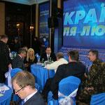 Pressezentrum Janukowytschs am Wahlabend 07.02.2010
