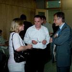 Dr. Anna Kaminsky, Geschäftsführerin der Stiftung Aufarbeitung, Dr. Marek Prawda, Botschafter der Republik Polen, Wolfgang Templin