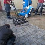 Pflasterscanverfahren: Schloß Bad Homburg v.d. Höhe < Pressebericht >
