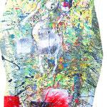 O.T. Lack auf pappmaché 45 x 130 cm