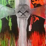 Veritas Aéquitas - Lack, Acryl auf Leinen 100 x 150 cm