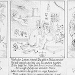 Alpha-Omega,  Tinte auf Papier 60 x 40 cm