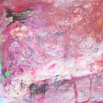 Man came this way - Lack, Acryl, Öl auf Kunststoffplatte, ca 250 x 100 cm
