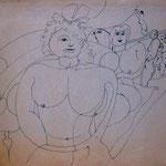 O.T. , Tinte auf Papier, 42 x 29,7 cm