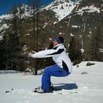 Vachement plus simple avec une paire de ski