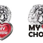 Логотип для монопородной выставки чау-чау.