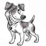 Иллюстрация для ветеринарного сайта. Про здоровые зубы).