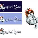 """Логотип питомника биверов, йорков и китайских голых собак """"Crystal Soul""""."""