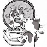 Иллюстрация для ветеринарного сайта. О важности чистки зубов)).